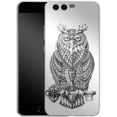 Huawei P10 Silikon Handyhuelle - Great Horned Owl von BIOWORKZ