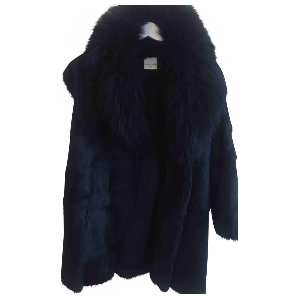 Laurence Dolige \N Black Rabbit jacket for Women 40 FR