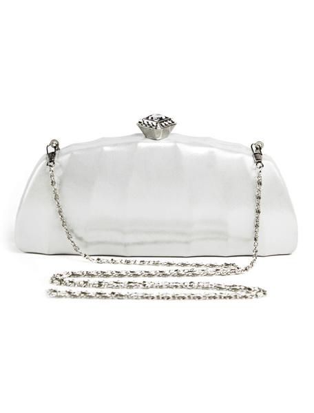 Milanoo Wedding Clutch Bags Metallic Purse PU Evening Party Handbags