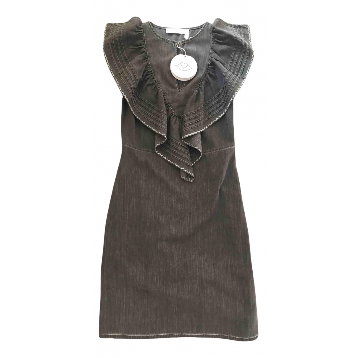 See By Chloé N Grey Cotton dress for Women XS International