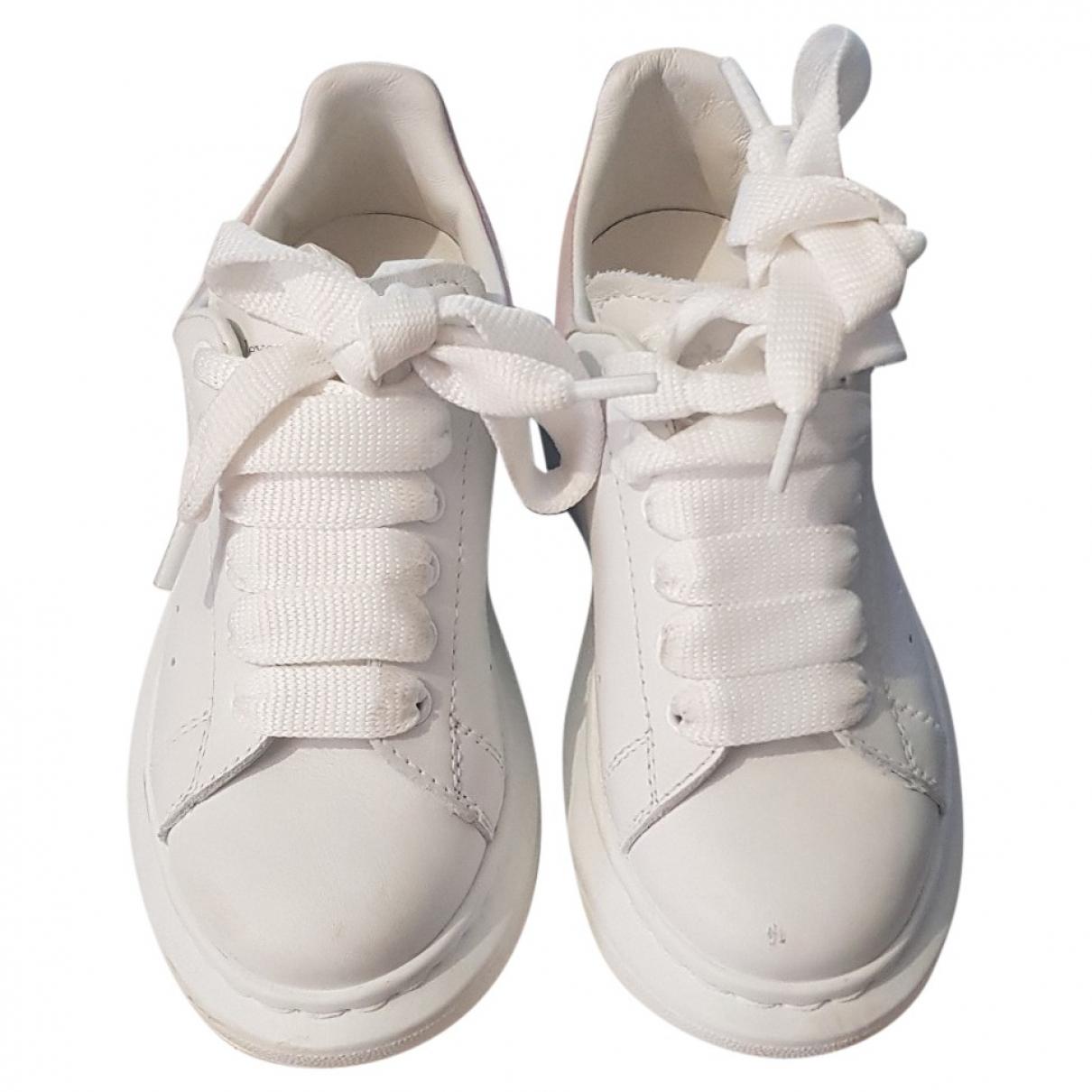 Alexander Mcqueen - Baskets   pour enfant en cuir - blanc