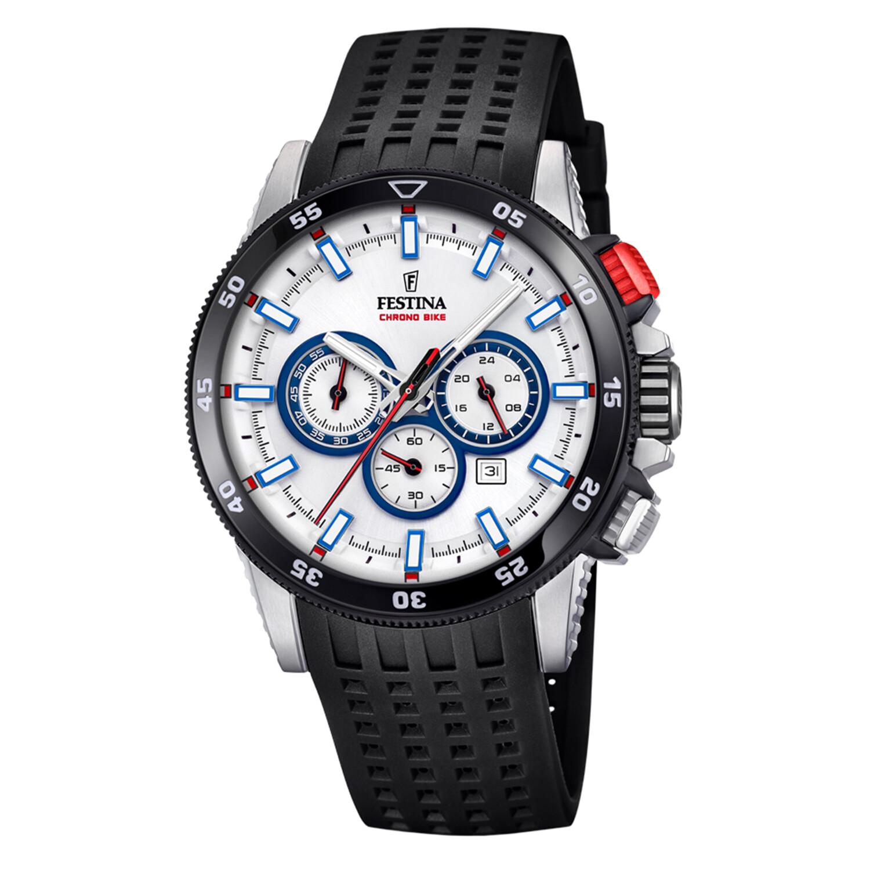 Festina Men's Chrono Bike F20353-1F59 White Silicone Quartz Sport Watch