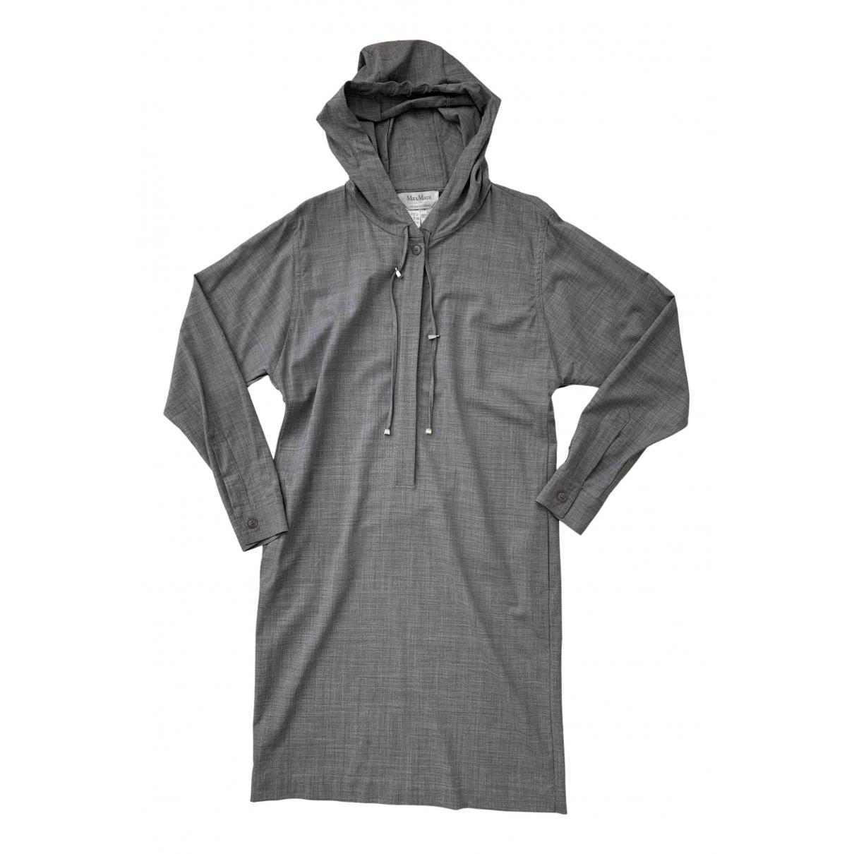 Max Mara - Robe   pour femme en laine - gris