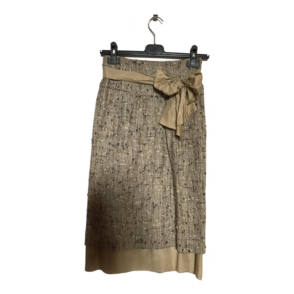 Moschino N Beige Cotton skirt for Women 38 IT