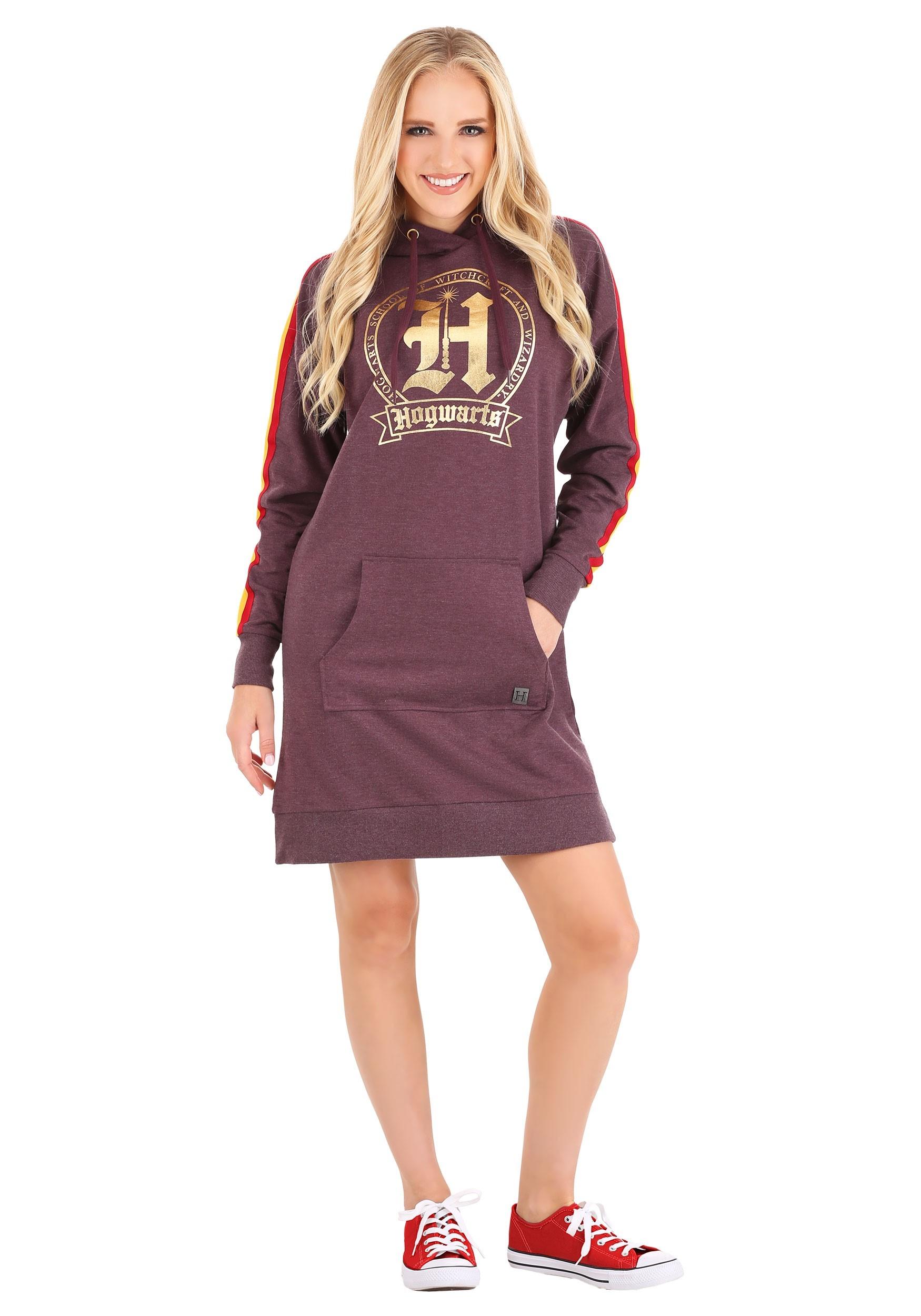 Harry Potter Hogwarts Hoodie Dress for Women