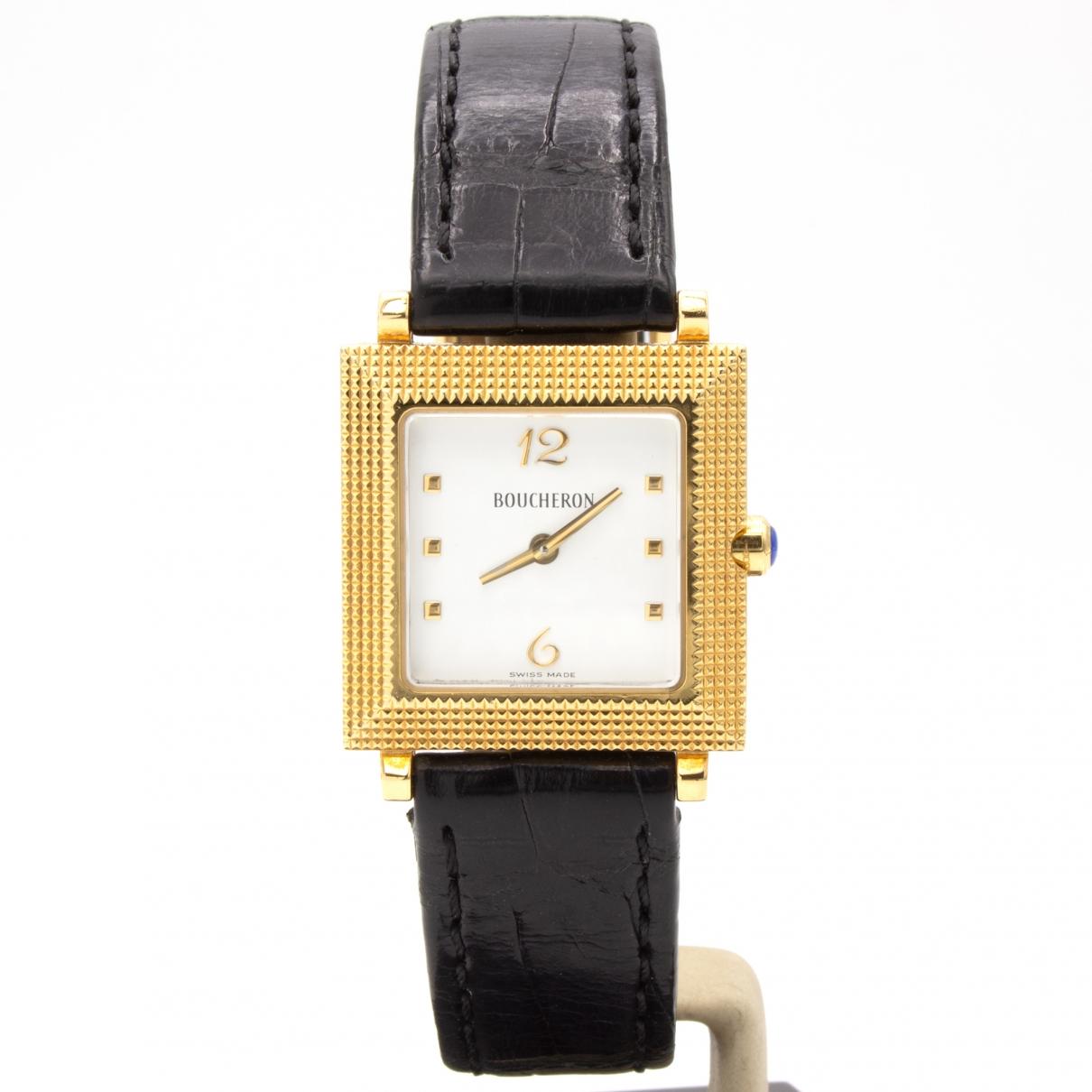 Boucheron Diamant Uhr in  Gold Gelbgold