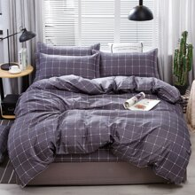 Plaid Pattern Bedding Set Without Filler