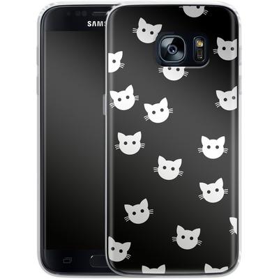 Samsung Galaxy S7 Silikon Handyhuelle - Cat Pattern von caseable Designs
