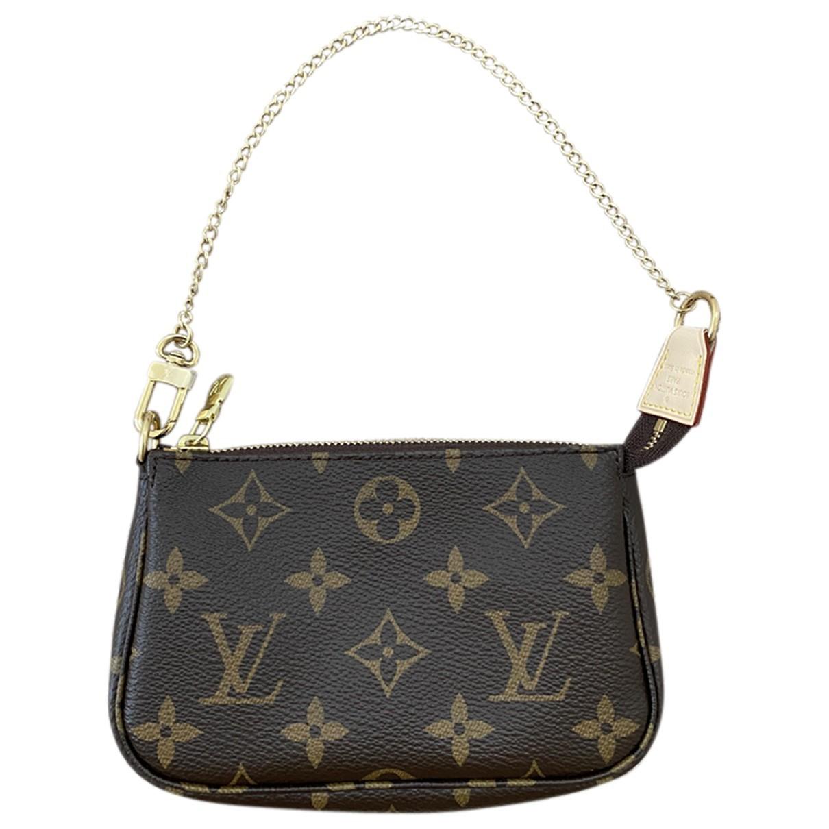 Louis Vuitton Pochette Accessoire Brown Cloth Clutch bag for Women N