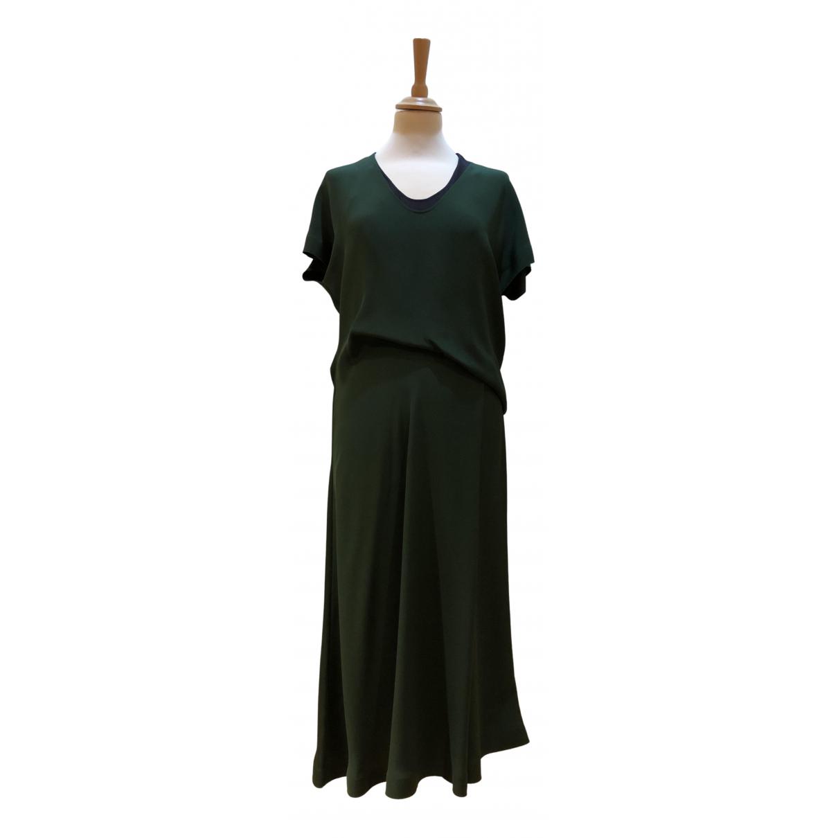 Cedric Charlier \N Kleid in  Gruen Seide