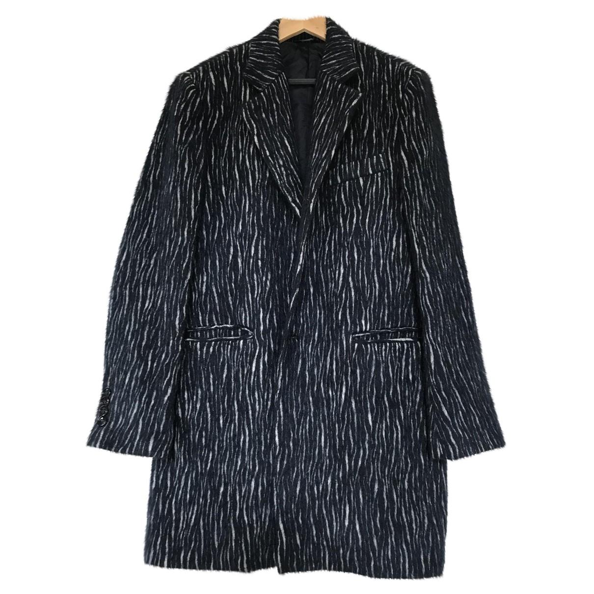 - Manteau   pour homme en laine - bleu