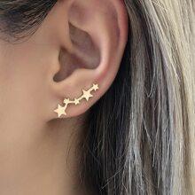 Star Decor Stud Earrings