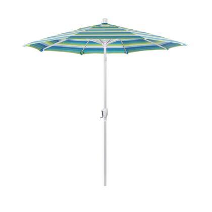 GSPT758170-5608 7.5' Pacific Trail Series Patio Umbrella With Matted White Aluminum Pole Aluminum Ribs Push Button Tilt Crank Lift With Sunbrella 1A