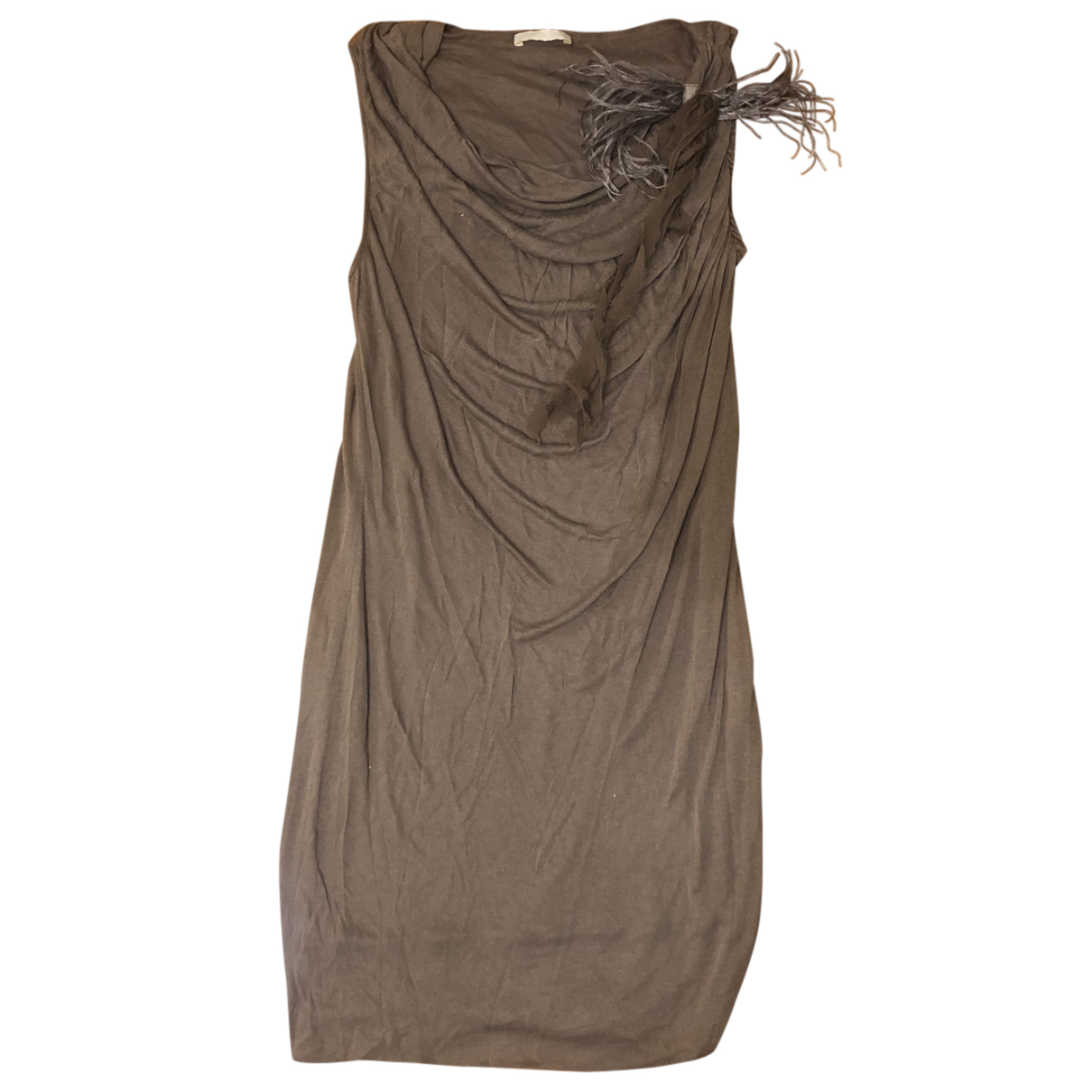 Ermanno Scervino N Brown Cashmere dress for Women 42 IT