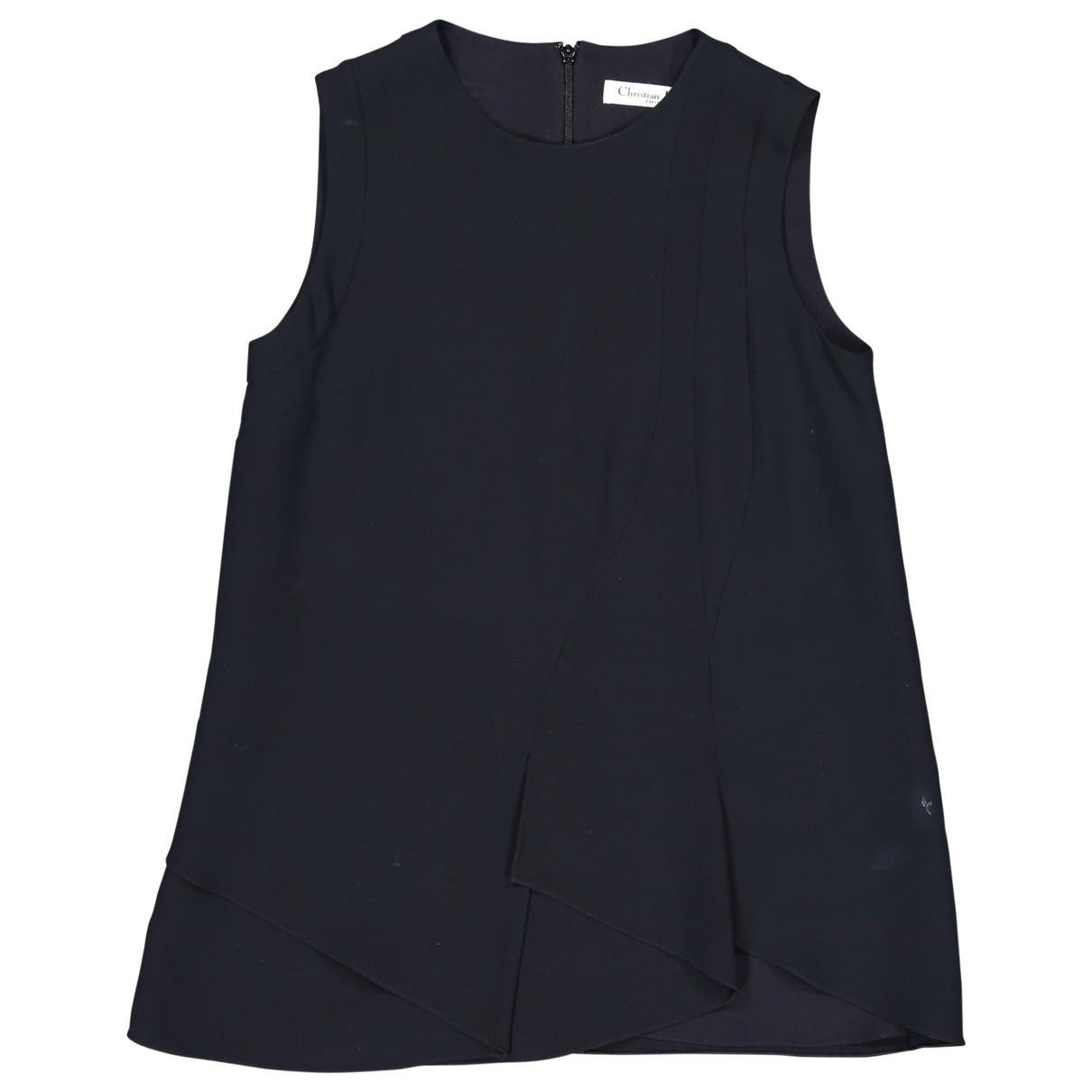 Dior - Top   pour femme en soie - marine