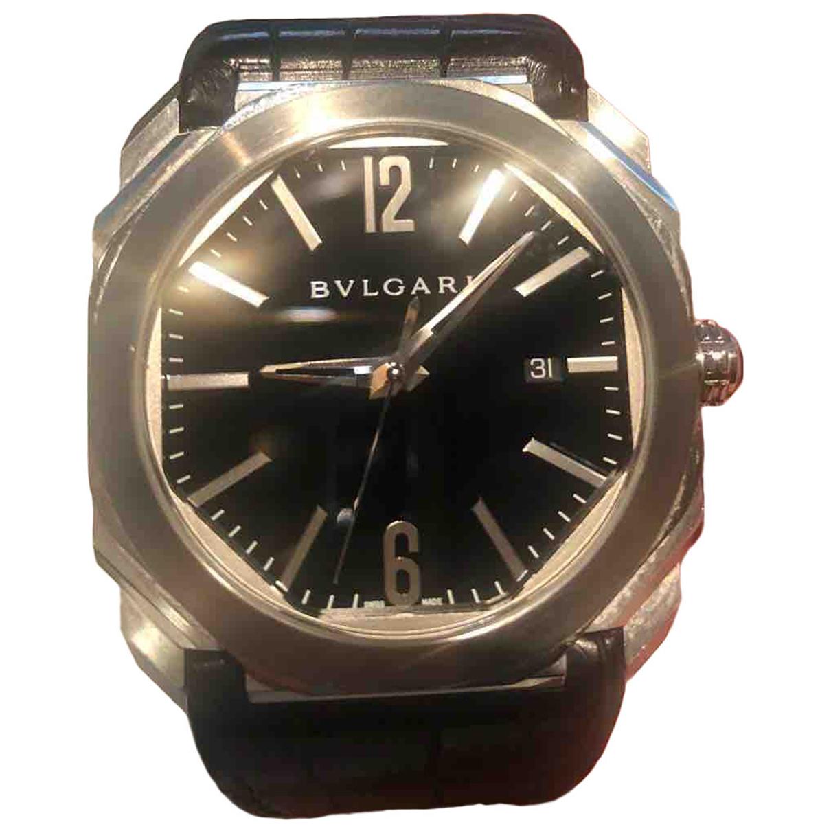 Bvlgari - Montre Octo pour homme en acier - argente