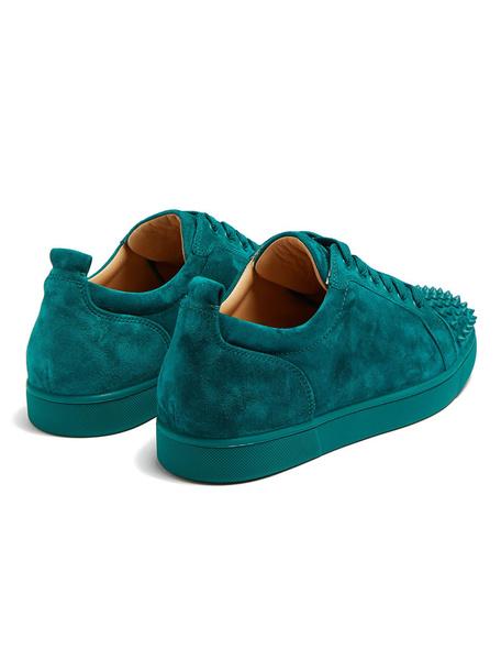 Milanoo Zapatos de Skate de hombre 2020 verde oscuro puntera redonda remaches con cordones