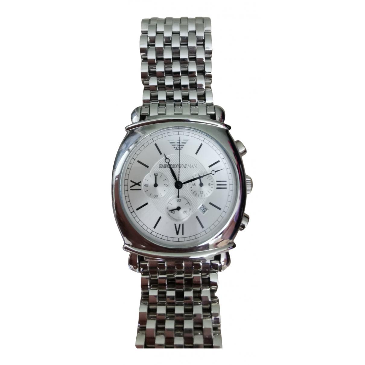 Emporio Armani \N Uhr in  Metallic Stahl