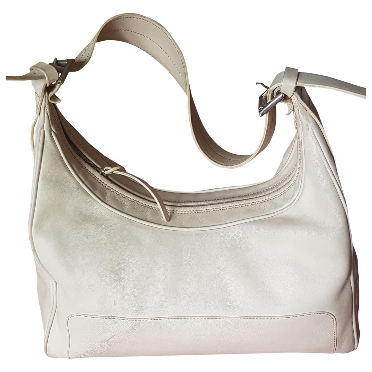 Hogan \N Handtasche in  Beige Leder
