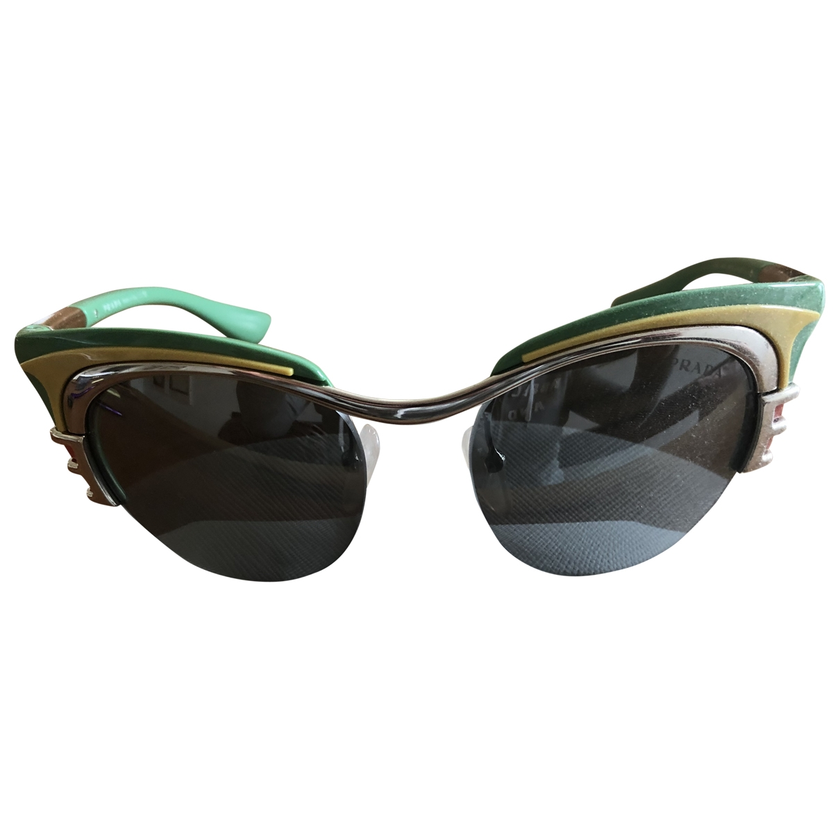 Prada \N Sonnenbrillen in  Gruen Kunststoff