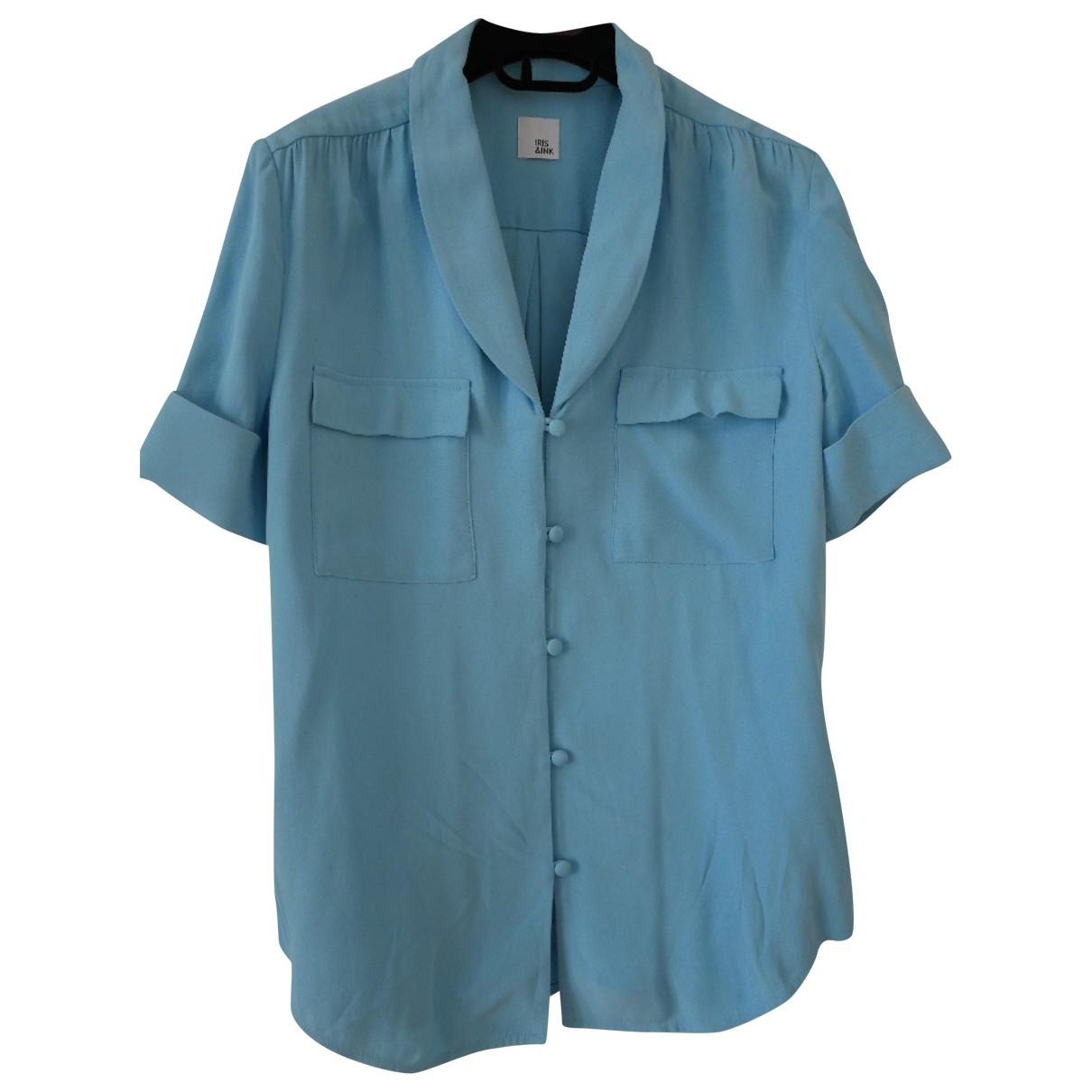 Iris & Ink - Top   pour femme - bleu