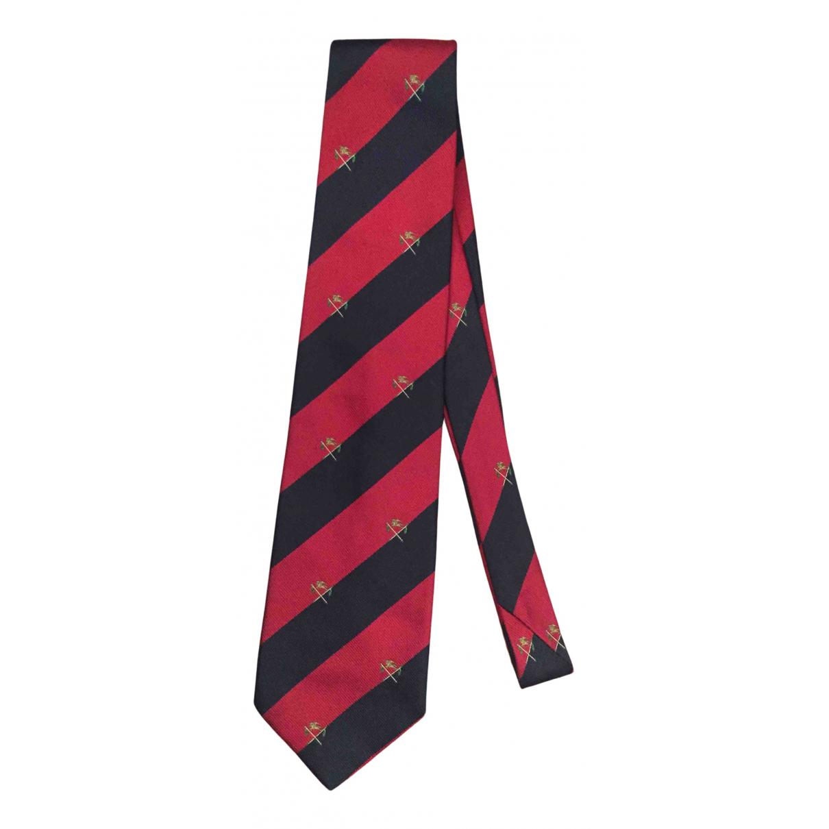Burberry - Cravates   pour homme en soie - rouge