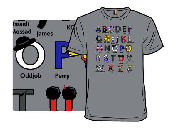 Spy Alphabet T Shirt