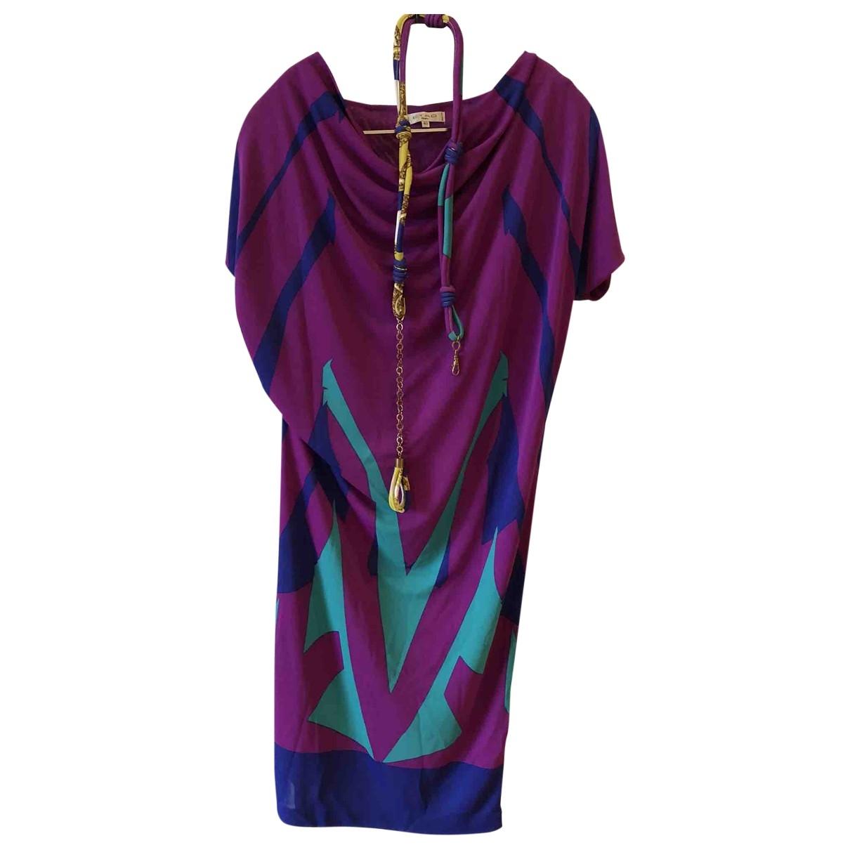 Etro \N Kleid in  Rosa Polyester