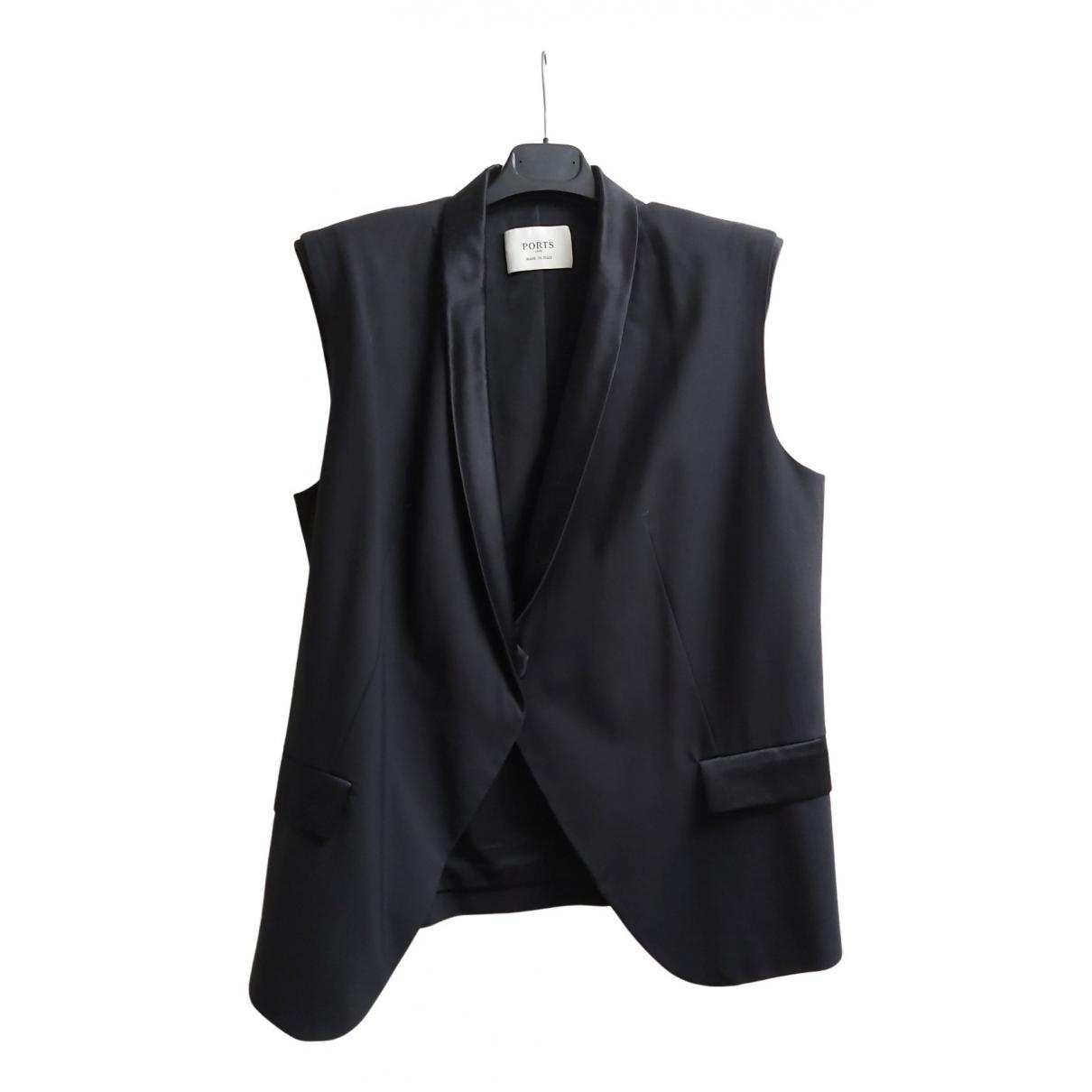 Ports 1961 - Veste   pour femme en laine - noir