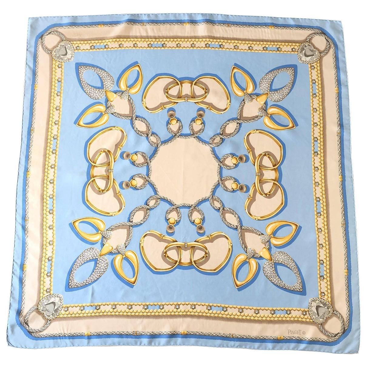 Piaget - Foulard   pour femme en soie - bleu