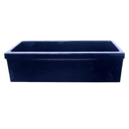 WHQ536-BLUE Large Quatro Alcove reversible fireclay sink decorative 2    inch lip on one side and 2