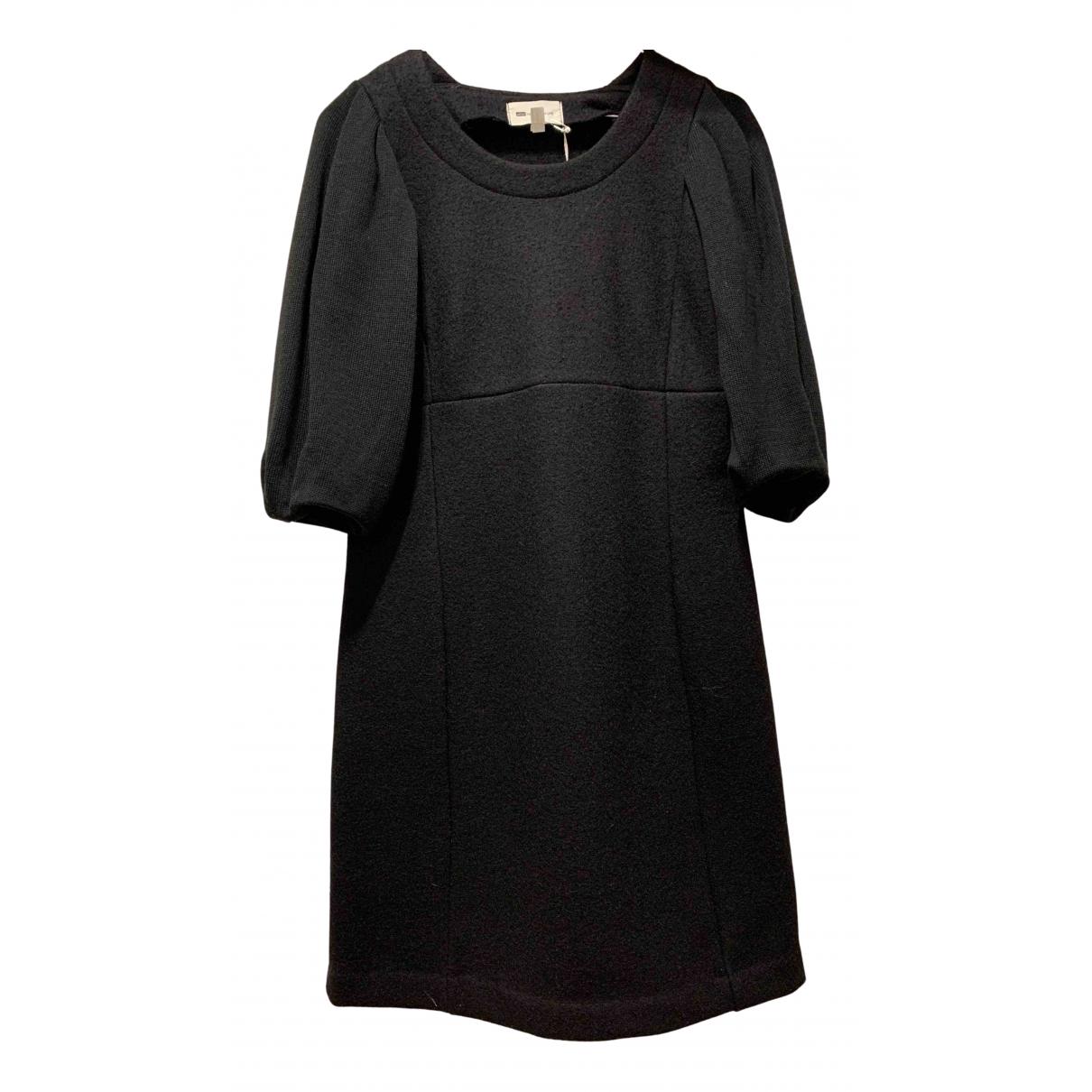 Vanessa Bruno Athe \N Kleid in  Schwarz Wolle