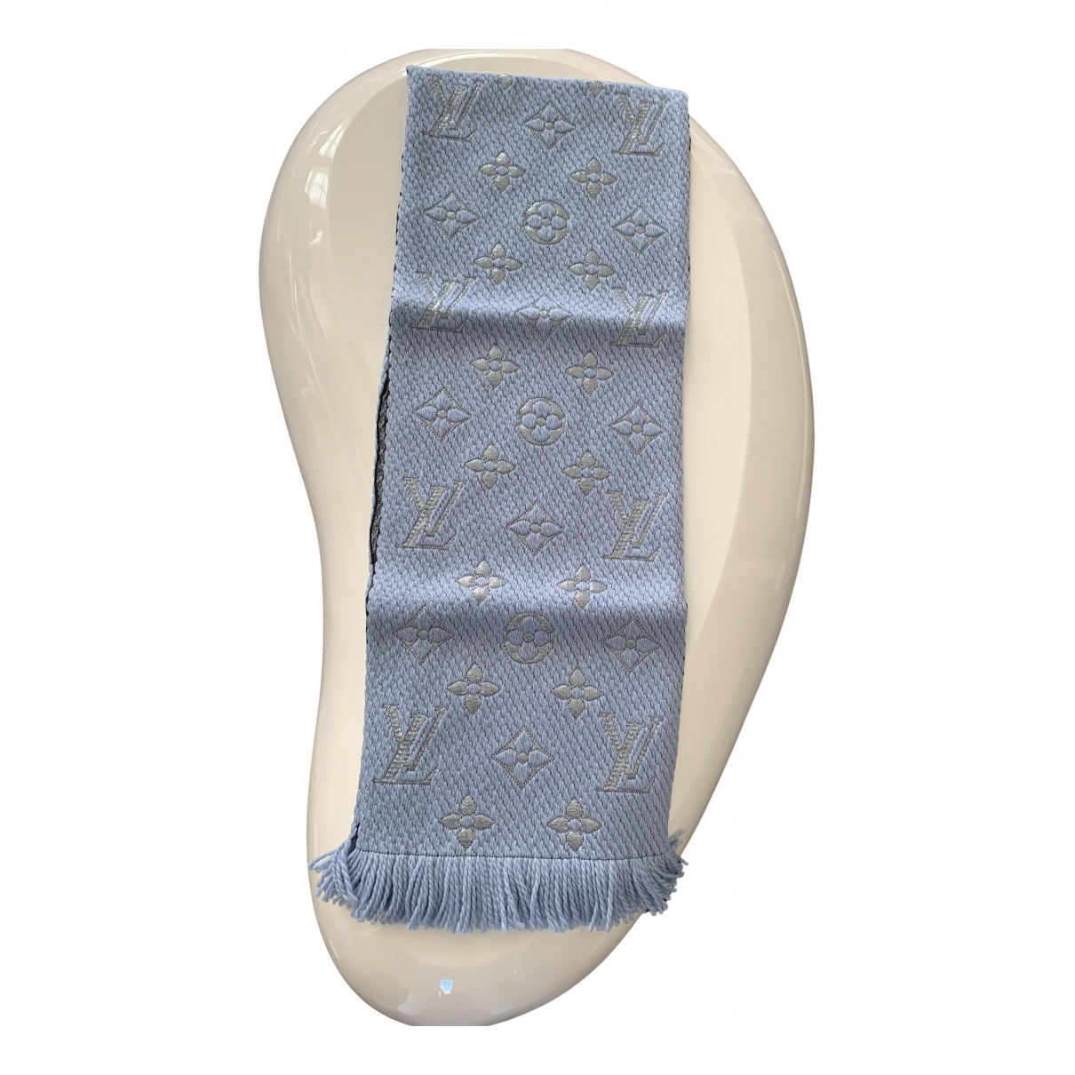 Louis Vuitton Logomania Blue Wool scarf for Women N