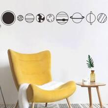 Planet Pattern Wall Sticker
