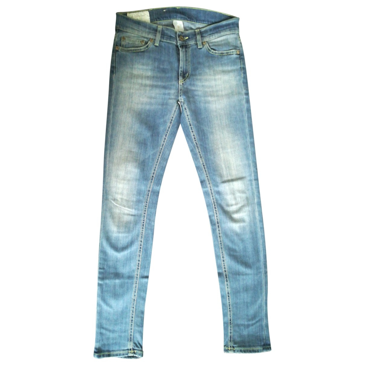 Dondup \N Blue Cotton - elasthane Jeans for Women 27 US