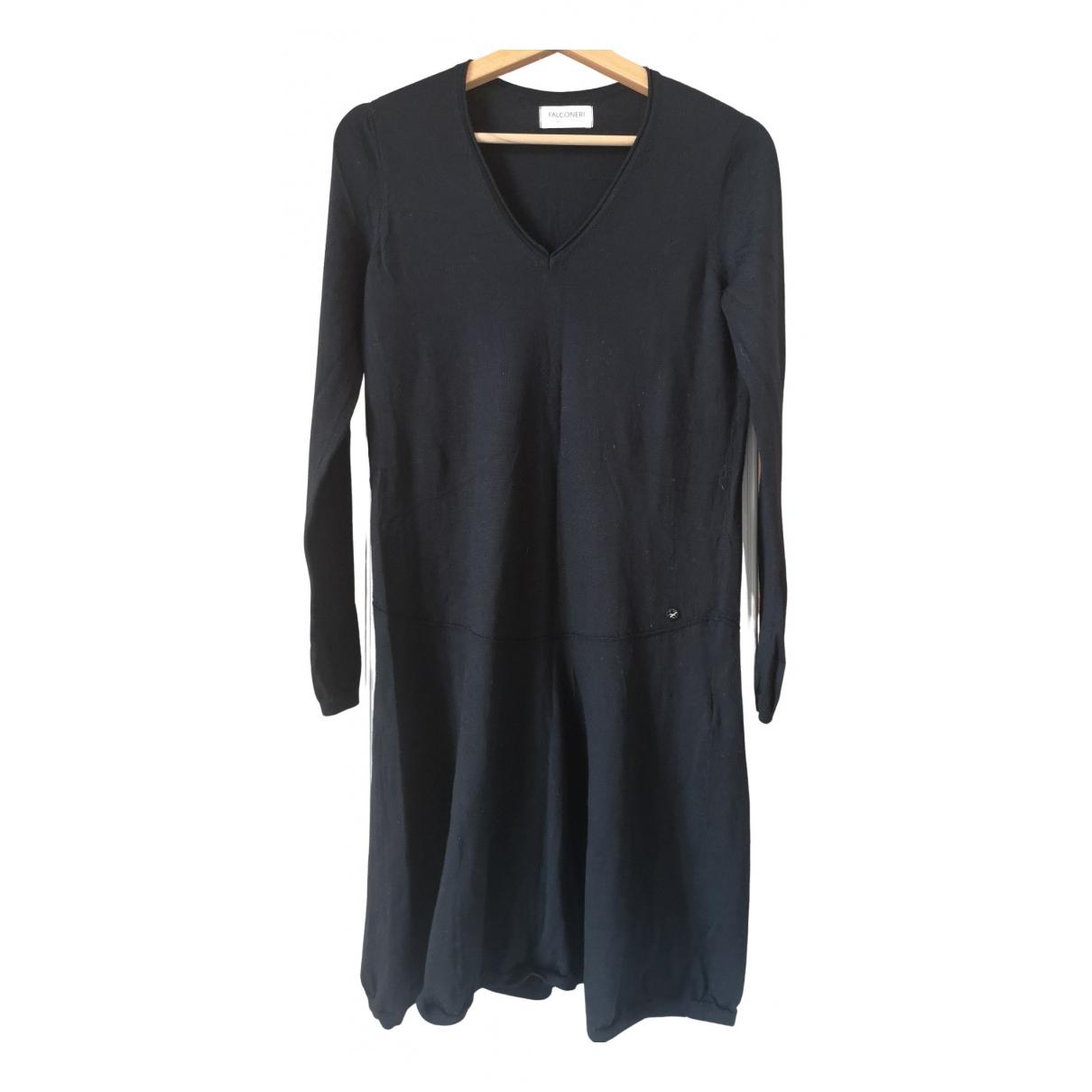 Falconeri \N Kleid in  Schwarz Wolle