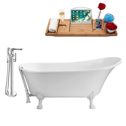 NH340WH-CH-120 Faucet and Tub Set with 67