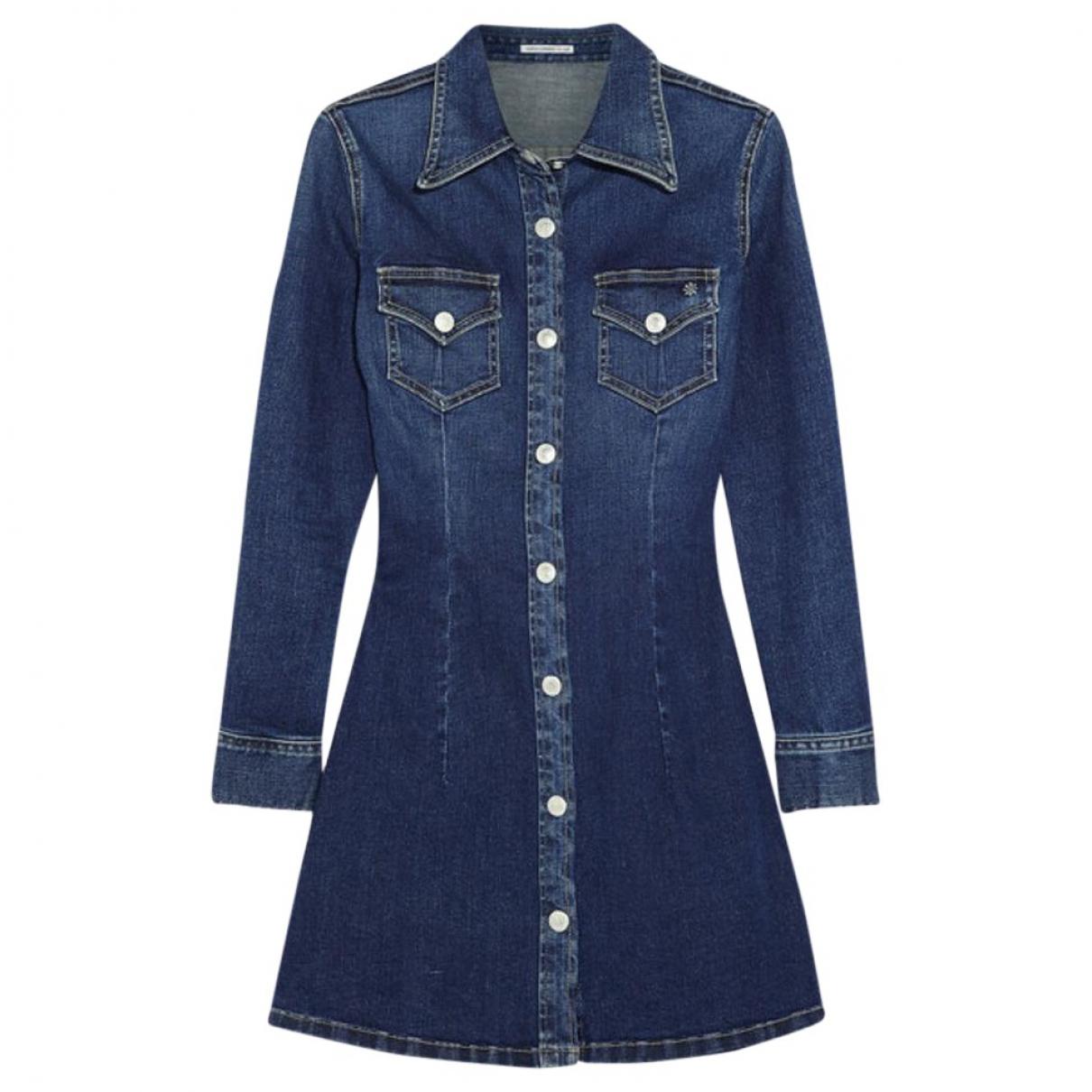 Alexa Chung For Ag \N Blue Cotton dress for Women XS International