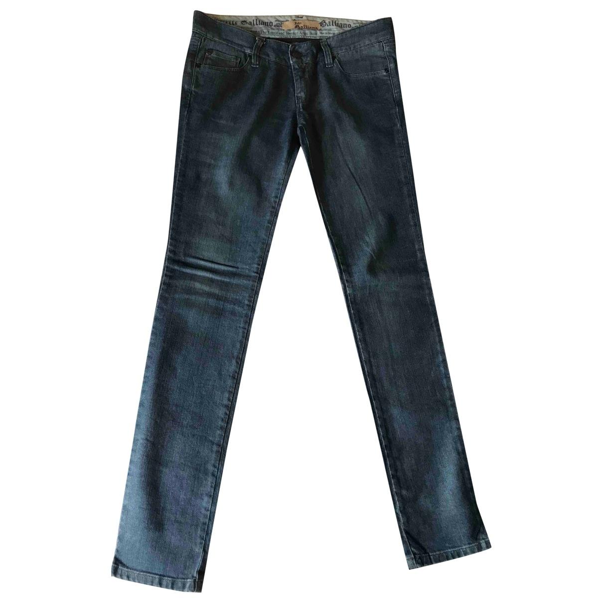 John Galliano \N Blue Denim - Jeans Trousers for Kids 14 years - S UK