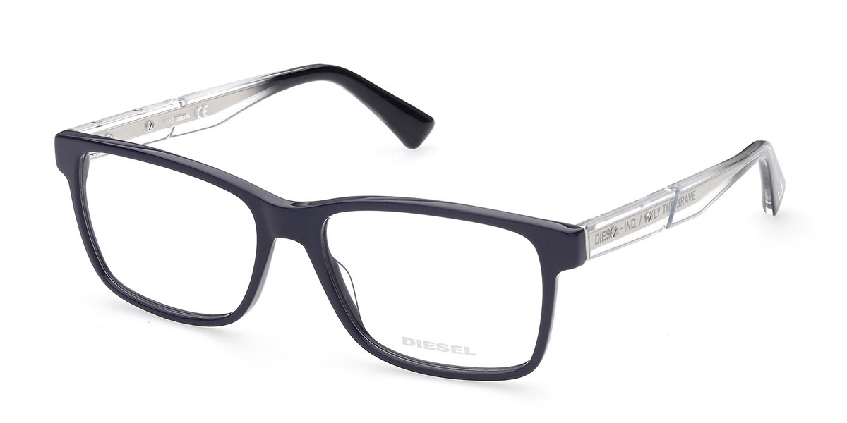 Diesel DL5407 092 Men's Glasses Blue Size 55 - Free Lenses - HSA/FSA Insurance - Blue Light Block Available