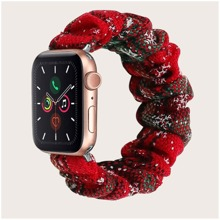 Apple Watchband mit Weihnachten und Scrunchie Design