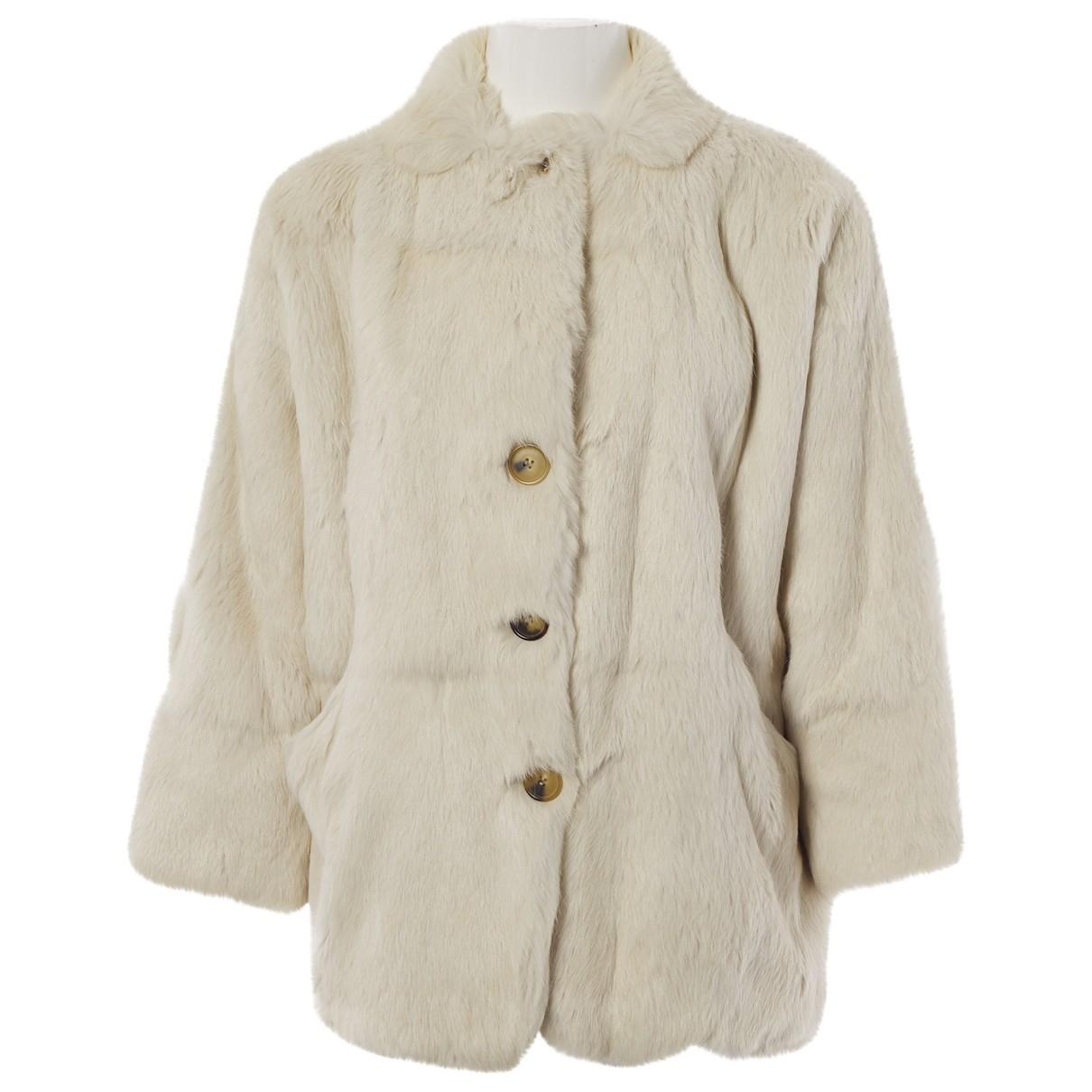 Isabel Marant - Manteau   pour femme en lapin - ecru