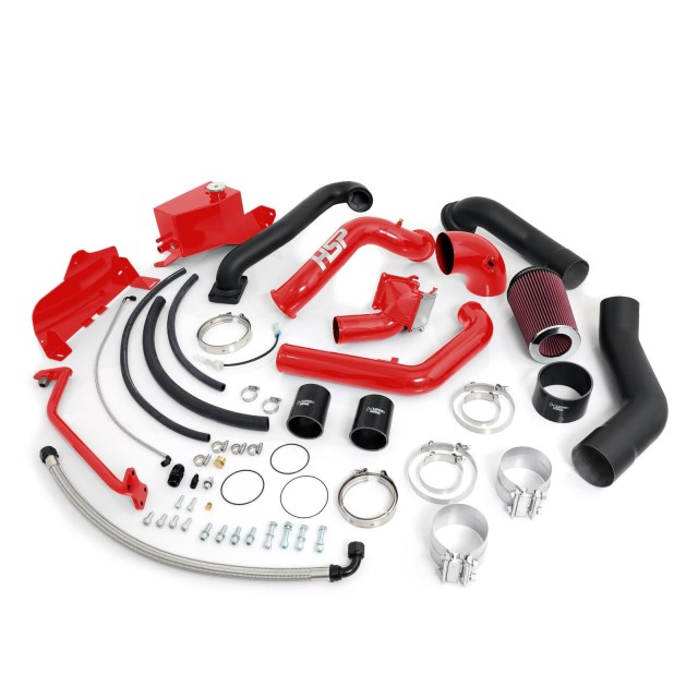 2007.5-2010 Chevrolet / GMC Over Stock Twin Kit No Turbo Factory Battery Location Blood Red HSP Diesel 413-HSP-BR