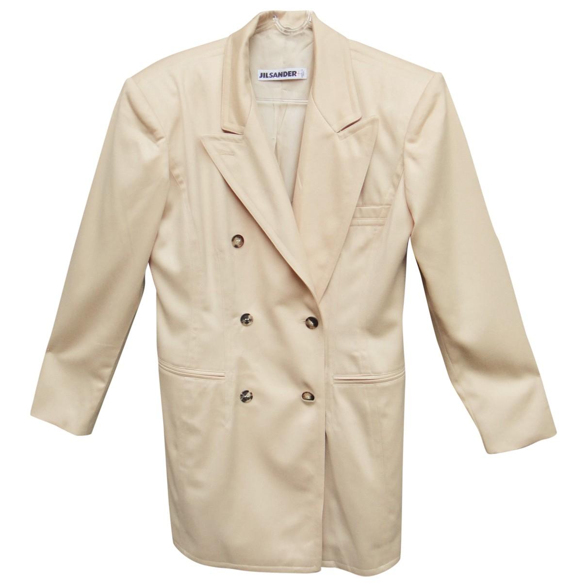 Jil Sander \N Beige Wool jacket for Women 38 FR