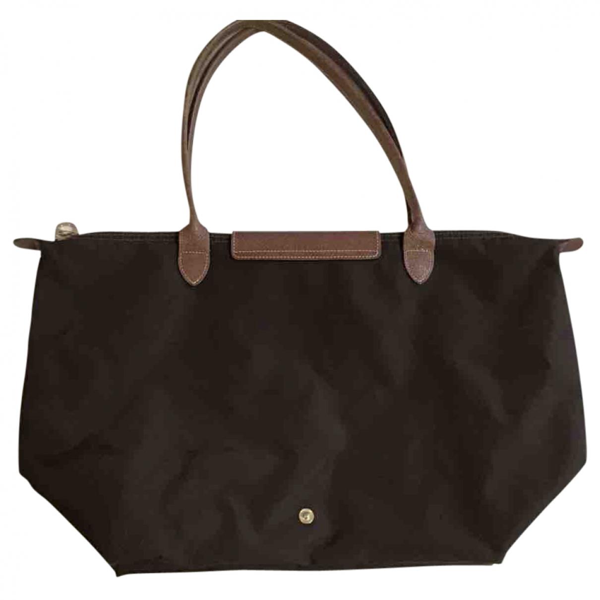 Longchamp Pliage  Brown handbag for Women \N