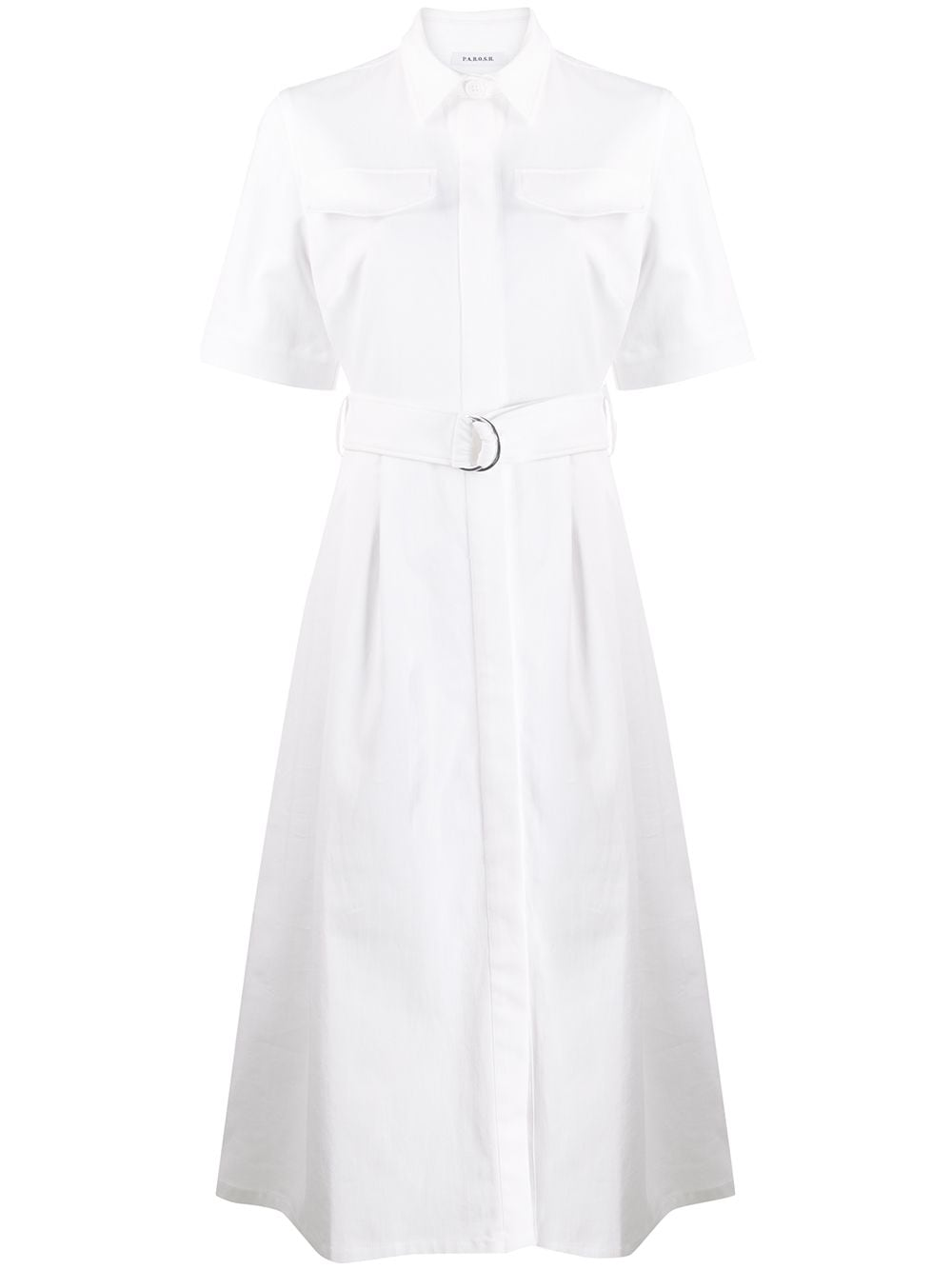 Cotton Midi Dress With Belt