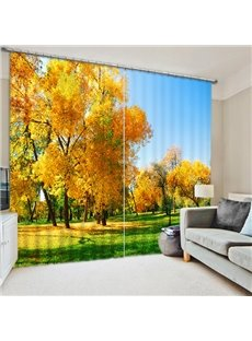 Golden Trees in the Fall Print 3D Blackout Curtain