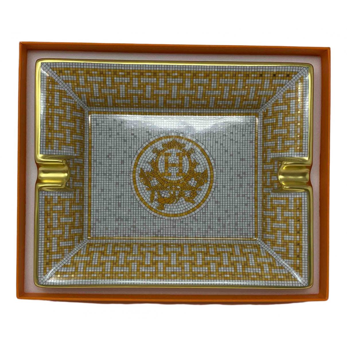 Hermes - Objets & Deco Mosaique au 24 pour lifestyle en porcelaine - dore