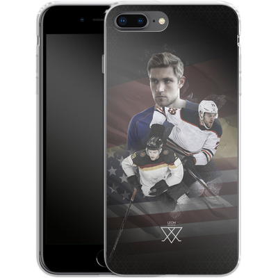 Apple iPhone 8 Plus Silikon Handyhuelle - Leon Draisaitl America von Leon Draisaitl