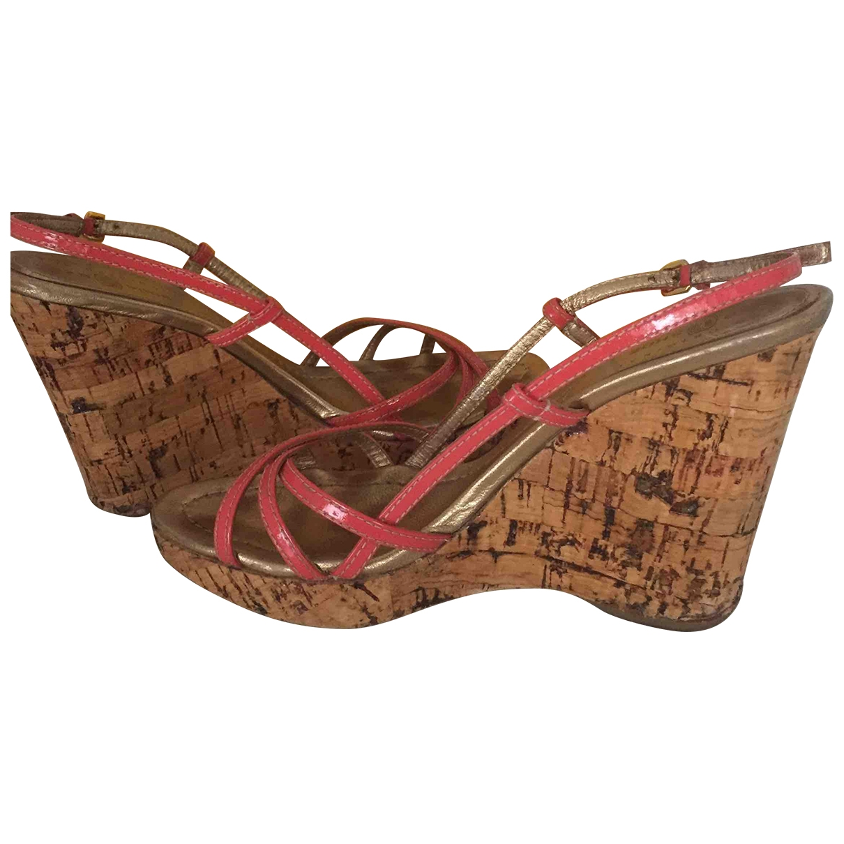 Carshoe \N Pink Patent leather Sandals for Women 38 EU
